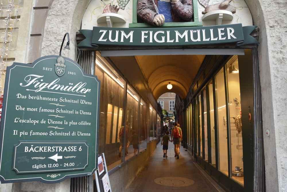 Figlmüller Bäckerstrasse:  Wir gehen heute in Wien Schnitzel essen