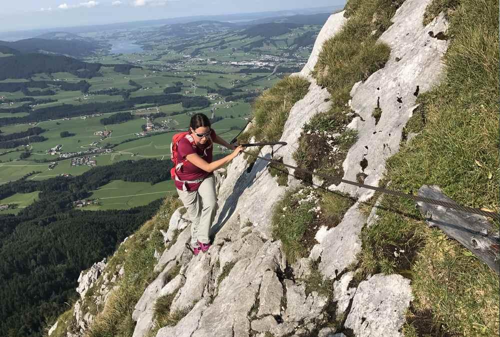 Beim letzten Stück unterhalb des Gipfels muß man aber wirklich gut aufpassen