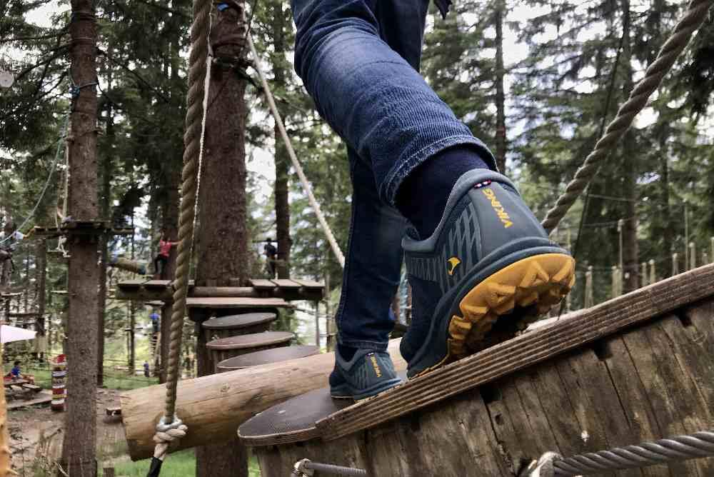 Denk daheim daran, gute Schuhe anzuziehen! Mit unseren halbhohen Viking-Schuhen war es perfekt.