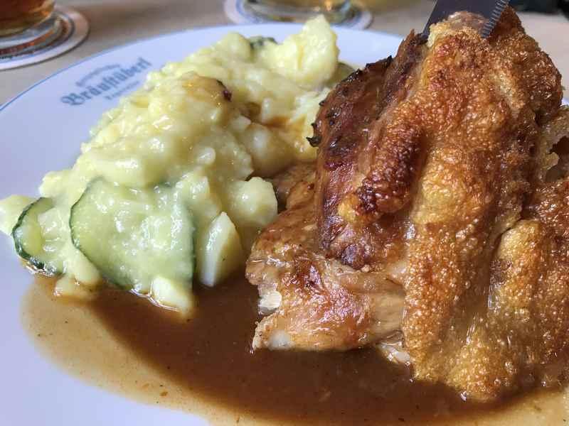 Bräustüberl Tegernsee: Er schmeckt sehr gut zur Schweinshaxe