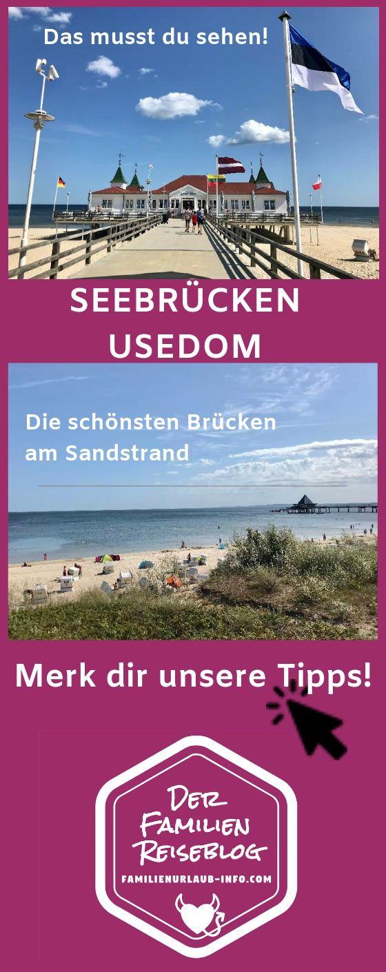 Merk dir unsere Tipps für die Seebrücken Usedom - mit diesem Pin auf Pinterest!