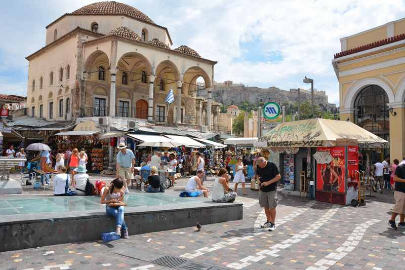 Sehenswürdigkeiten Athen - auf dem historischen Marktplatz pulsiert das Leben