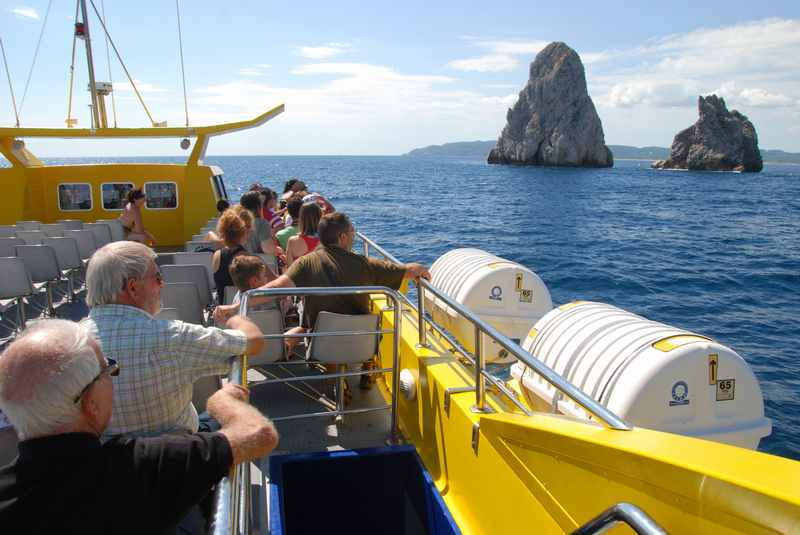 Die Familienurlaub Spanien Sehenswürdigkeiten, was lohnt sich? - Unser Ausflug im Boot mit Glasboden!