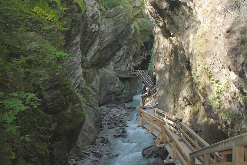 Klamm im Salzburger Land bei Zell am See: Die Sigmund Thun Klamm