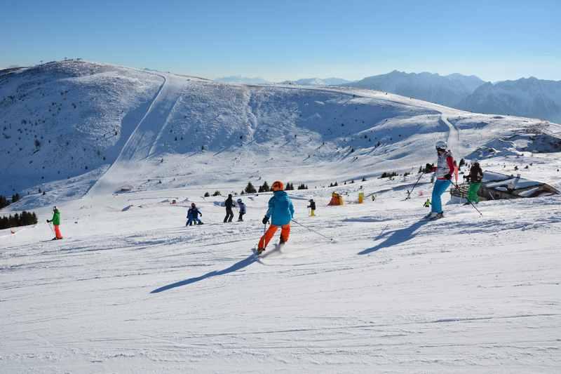 Vom Familienhotel Huber direkt ins Skigebiet mit Kindern