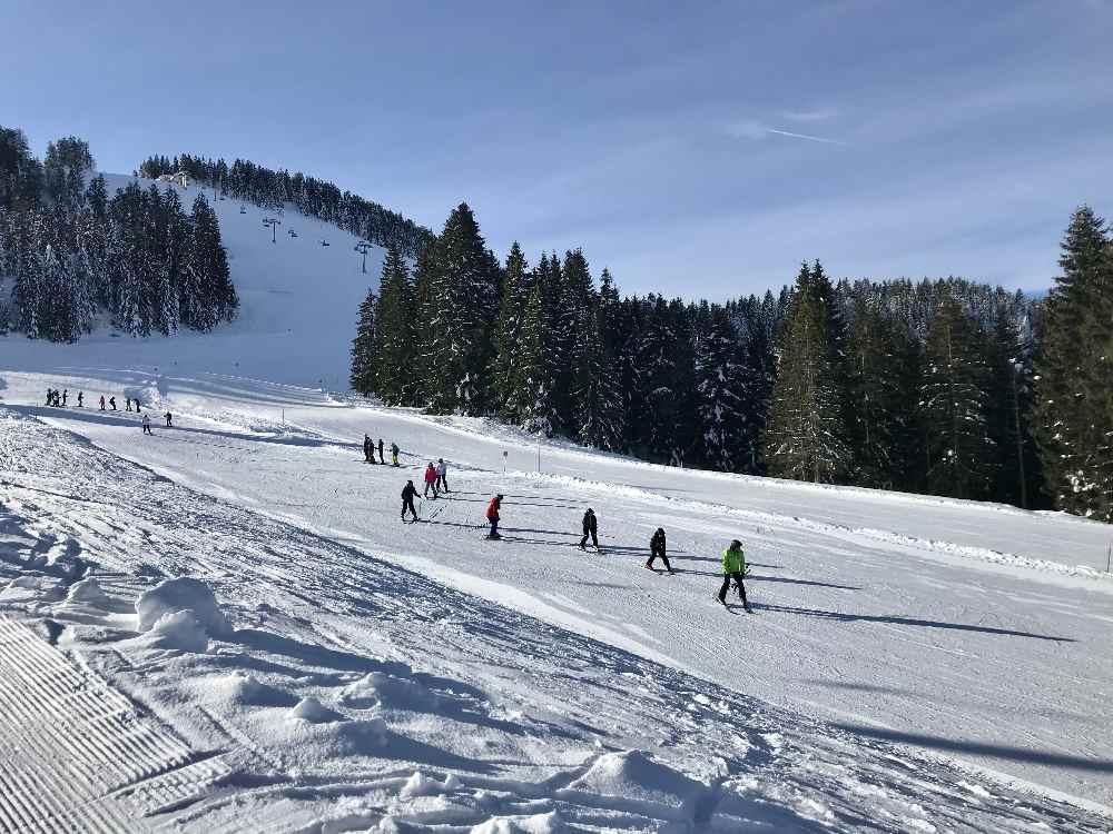 Steibis Skigebiet - gute Pisten für Kinder