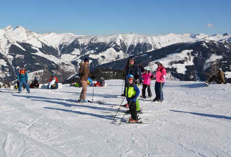 Skiurlaub mit Kindern Salzburger Land - aussichtsreiche Pisten in Österreich