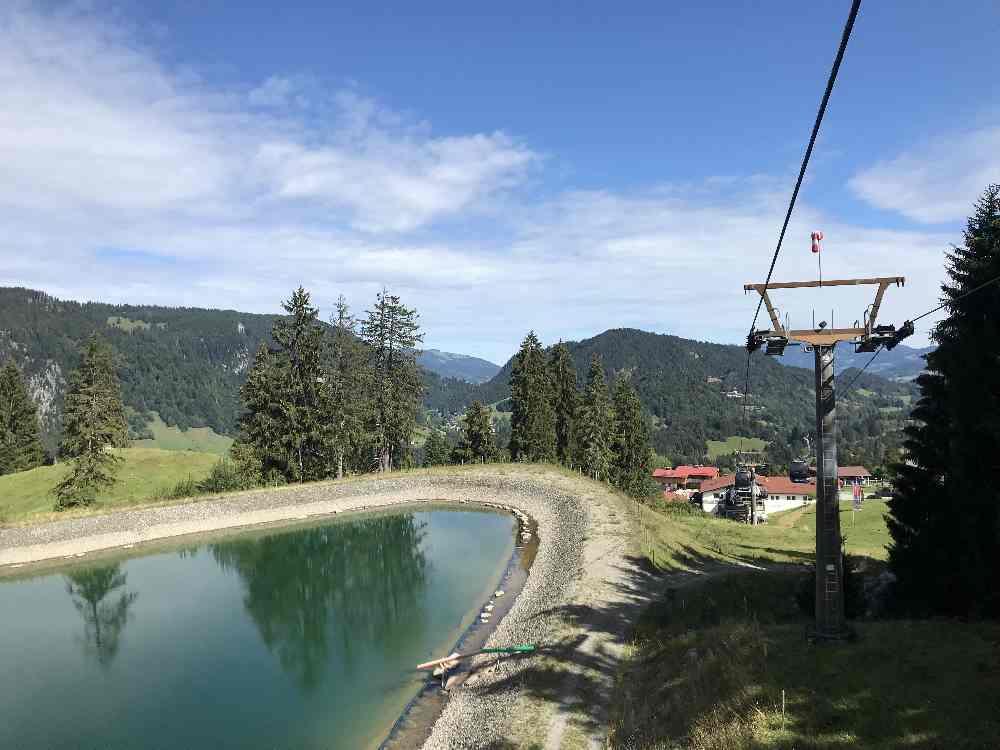 Mit der Söllereckbahn geht es hinauf zur Bergstation