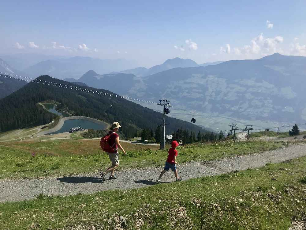 Am Spieljoch wandern mit Kindern - von der Bergstation zu den Speicherseen