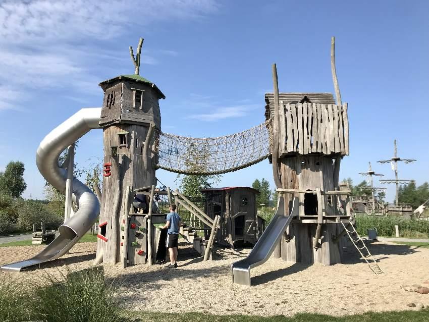 Einer der schönsten Spielplätze in Usedom: Bei der Piraten Insel Usedom