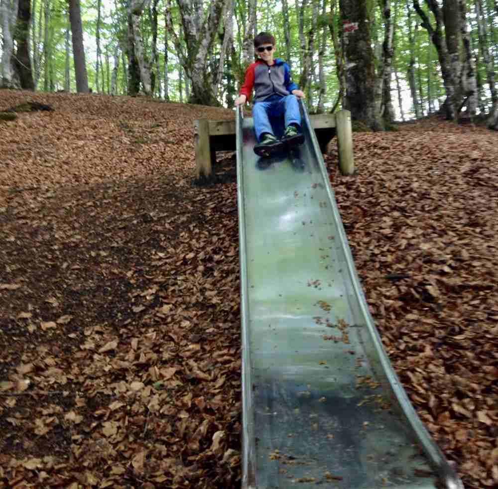 Es ist für die Kinder eine Art Spielplatz im Wald - mit Bewegung