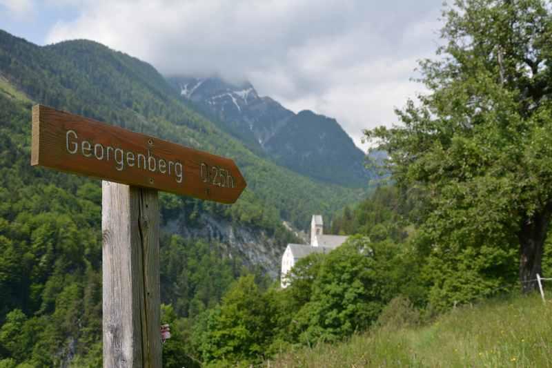 Von Stans nach St. Georgenberg wandern mit Kindern