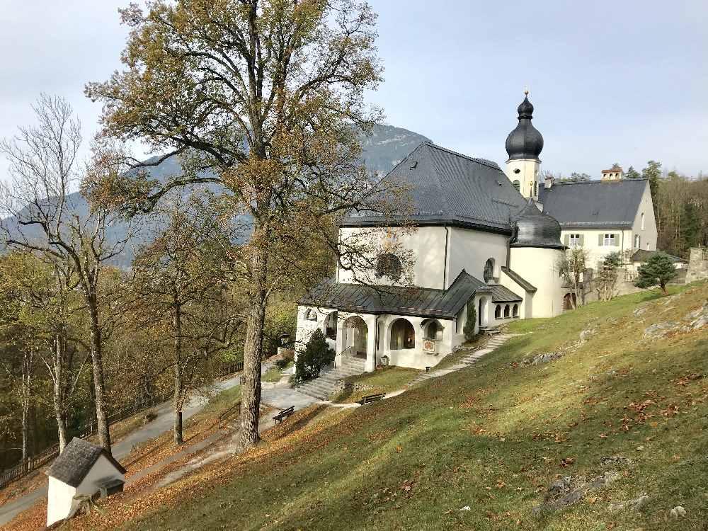 Zur  Tannenhütte Garmisch Partenkirchen wandern mit Kindern nach St. Anton - Wallfahrtskirche und Kloster in Bayern