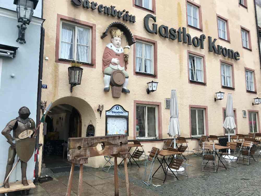 Auf der Stadtrallye in Füssen mit Kindern: Wo ist das Kornhaus?
