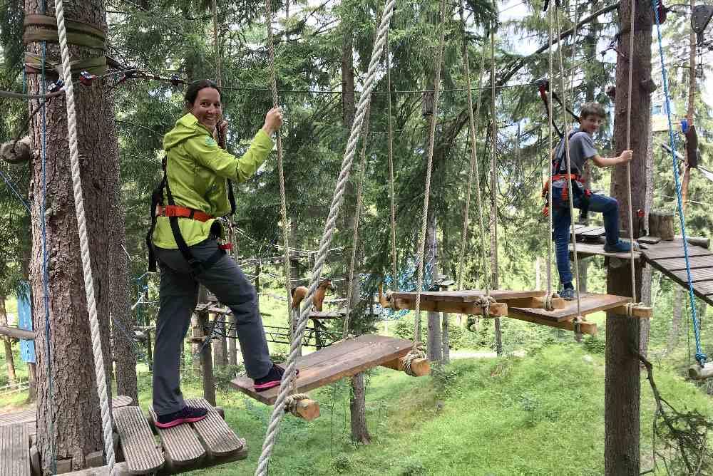 Das hat uns gefallen in Garmisch Partenkirchen: Der tolle Hochseilgarten!