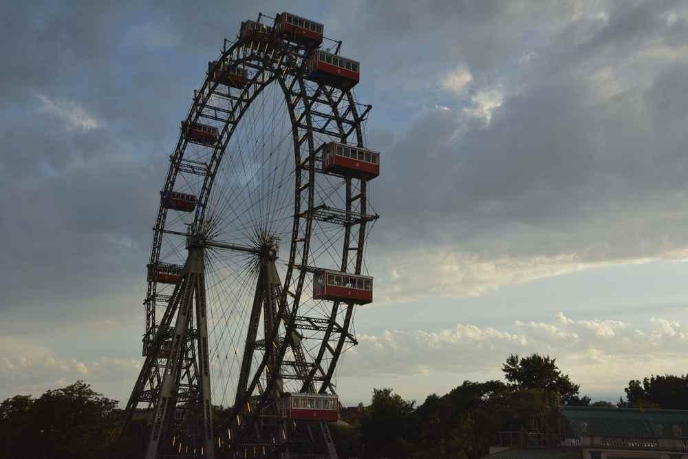 Städtereise Österreich nach Wien mit Kindern: Das Riesenrad am Prater gehört dazu - und geht sogar mit Kinderwagen