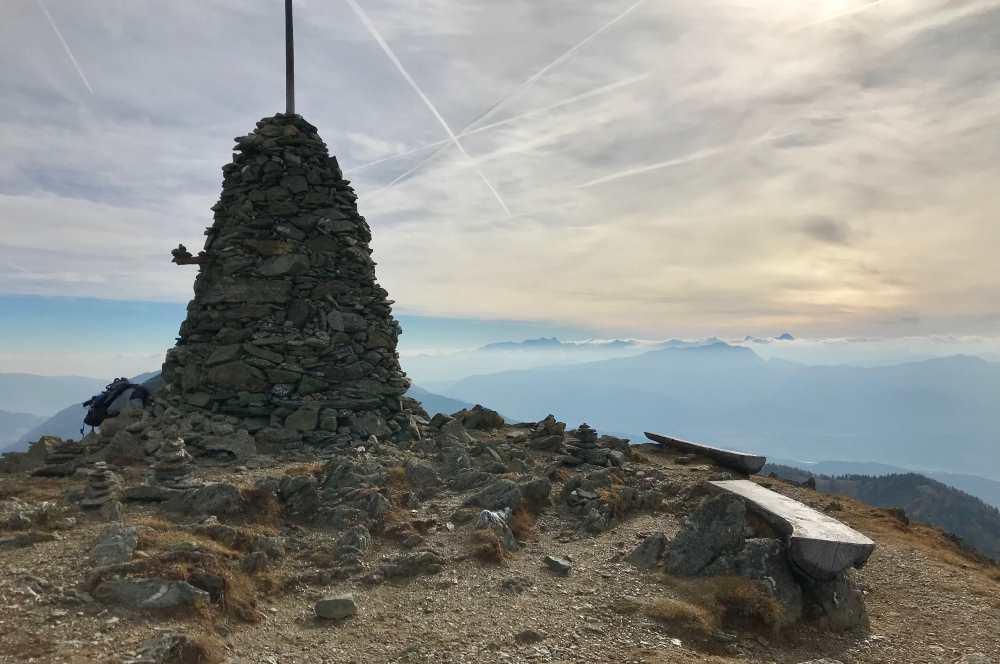 Am Stana Mandl - das große Steinmandl auf dem Berg, von hier ist es nicht mehr weit zum Granattor
