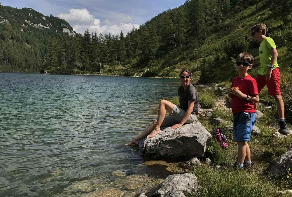Und das war der Steirersee bei der Sechs-Seen-Wanderung auf der Tauplitzalm im Salzkammergut