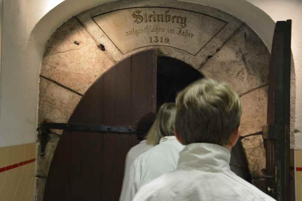 Wir gehen in den 1319 angeschlagenen Salzstollen Steinberg im Altausseer Land