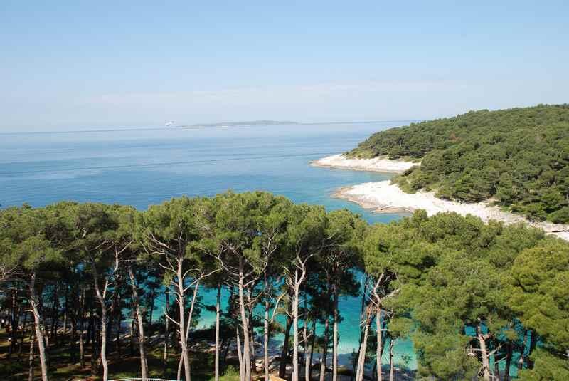 Wunderschön mit Pinien - die Strände auf der Adriainsel Losinj im Kroatien Familienurlaub