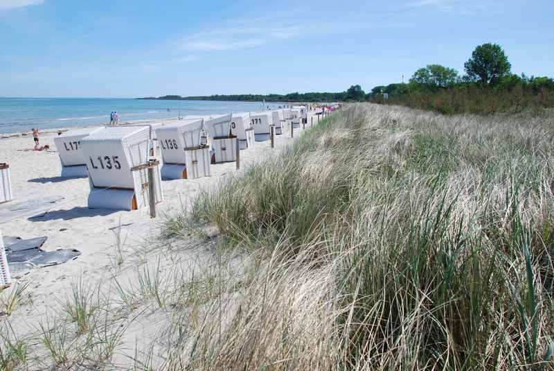 Boltenhagen mit Kindern:  Der Strand in Boltenhagen - Sand, Sand, Sand. Ideal mit Kindern im Familienurlaub am Meer.