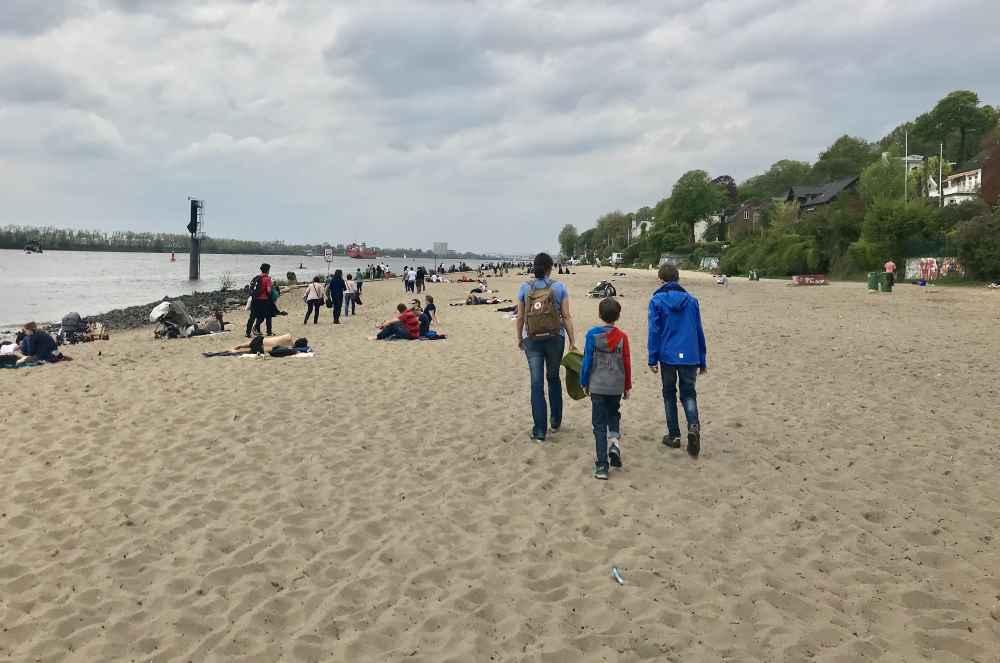 So schön und groß habe ich mir den Strand in Hamburg nicht vorgestellt.