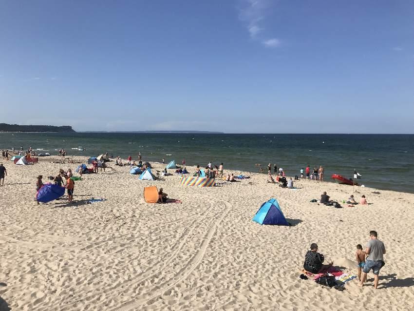 Strand Göhren: Viel Sandstrand auf der Insel Rügen, hier im Ostseebad Göhren