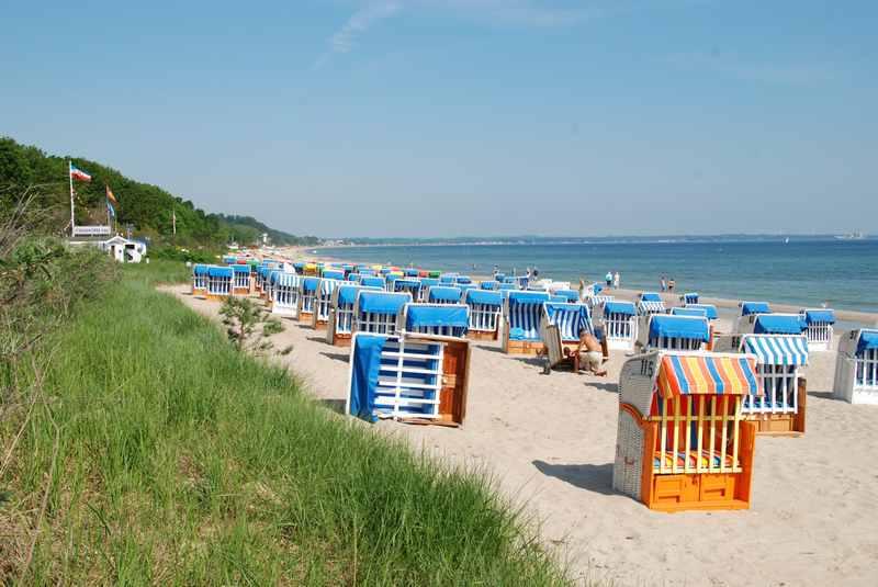 Der Strand in Timmendorf: Kilometerlanger Sandstrand