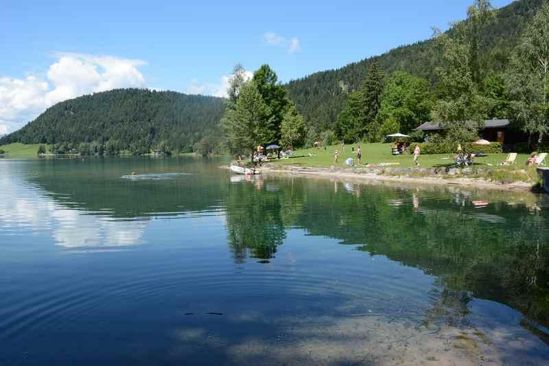 Das Strandbad am Hintersteiner See, ein kleiner verträumter Ort am Bergsee