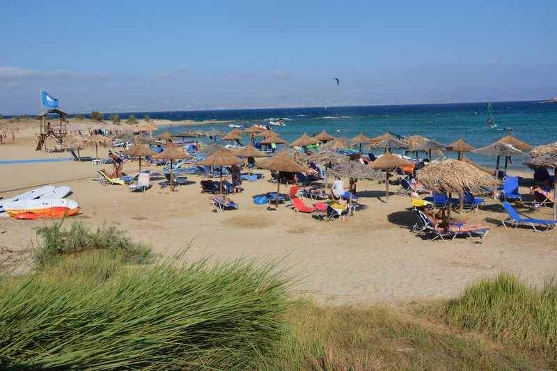 Familienurlaub am Strand mit Kindern in Griechenland