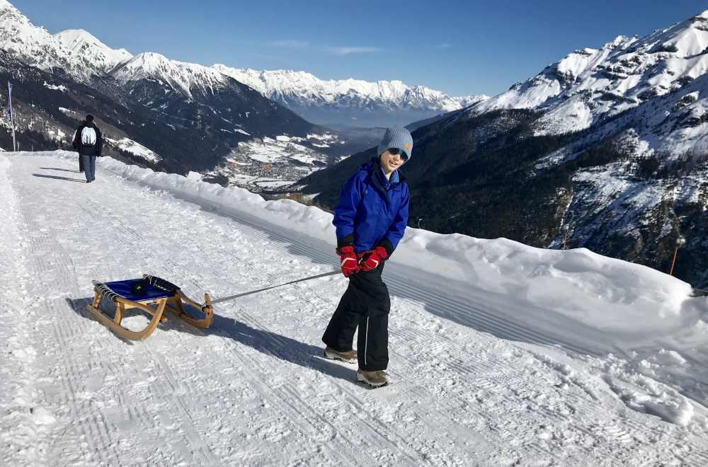 Rodeln Tirol: Die sonnige Rodelbahn Stubaital am Elfer