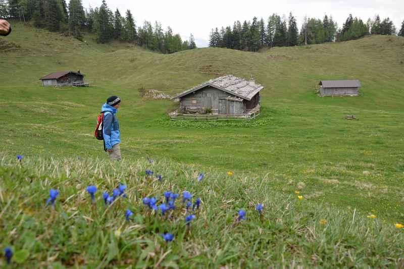 Lofer wandern leider nur im Nebel: Die Thällernalm in den Chiemgauer Alpen