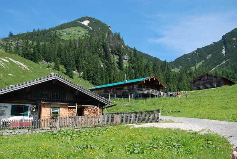Bei Unken im Heutal wandern mit Kinderwagen zur Hochalm, Chiemgauer Alpen