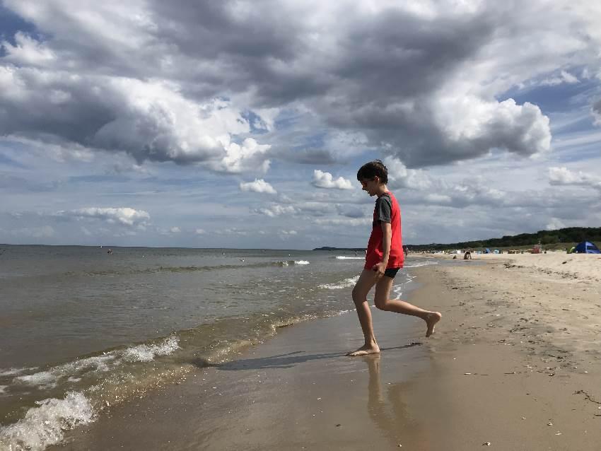 Strandurlaub Ostsee - kilometerlanger Sandstrand in Usedom mit Kindern
