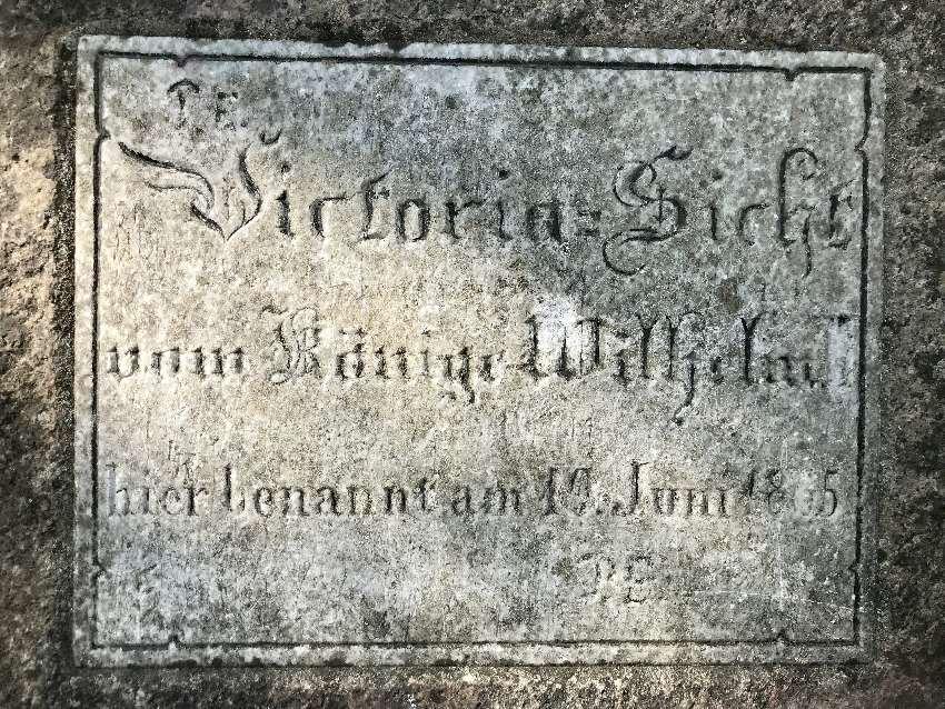 Victoriasicht: 1865 anlässlich eines Besuchs des damaligen Königs von Preußen Wilhelm I. mit der Kronprinzessin Victoria benannt