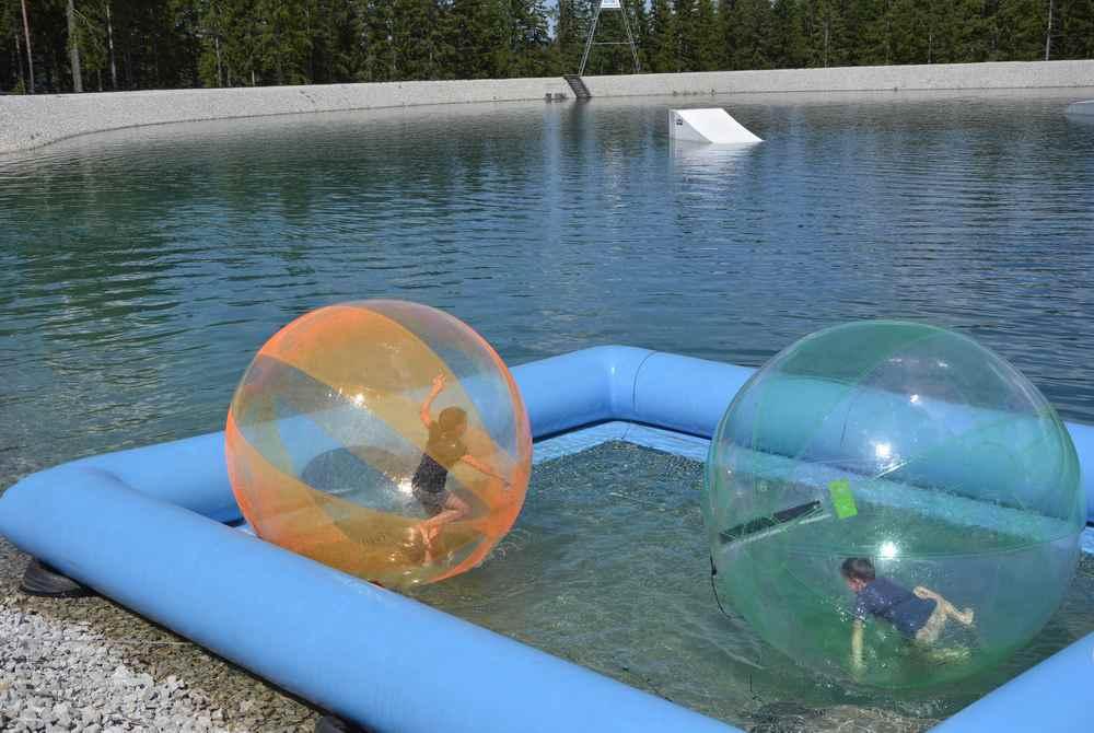 Das hätte uns interessiert: Walking Wasserball, leider war an diesem Tag so viel los auf der Bürgeralpe
