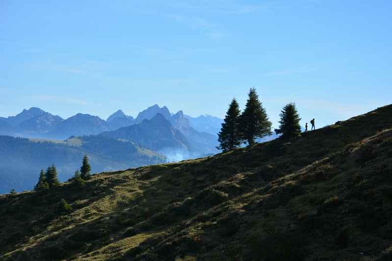 Wandern mit Kindern in Bayern - mit dieser tollen Stimmung am Berg
