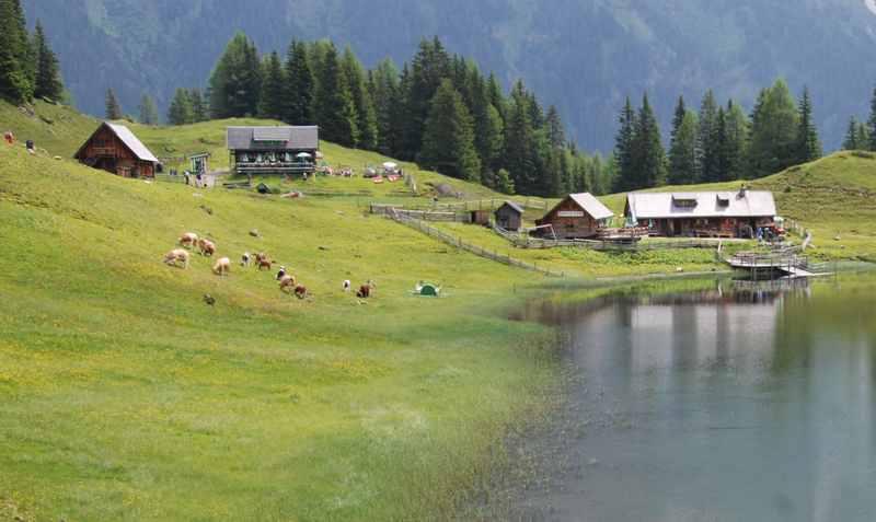 Wandern mit Kindern in der Steiermark, hier bei Schladming zum Duisitzkarsee