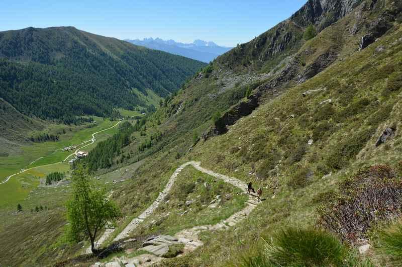 Der Wandersteig auf den Seefeldsee in Südtirol