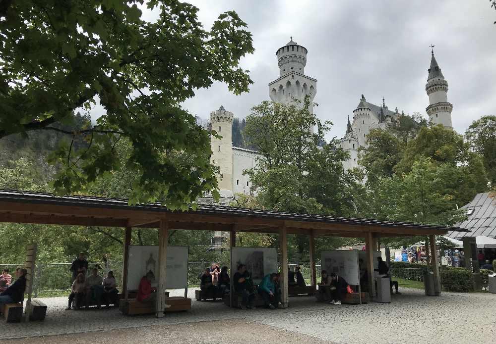 Danach gehen wir vom Schloss wieder hinunter nach Hohenschwangau