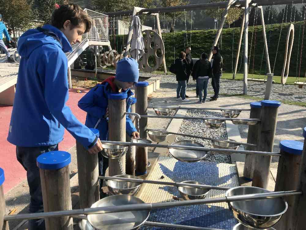 Der Wasserspielplatz in den Swarovski Kristallwelten