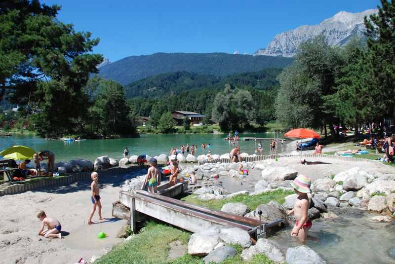 Wasserspielplatz Tirol für Kinder in Terfens