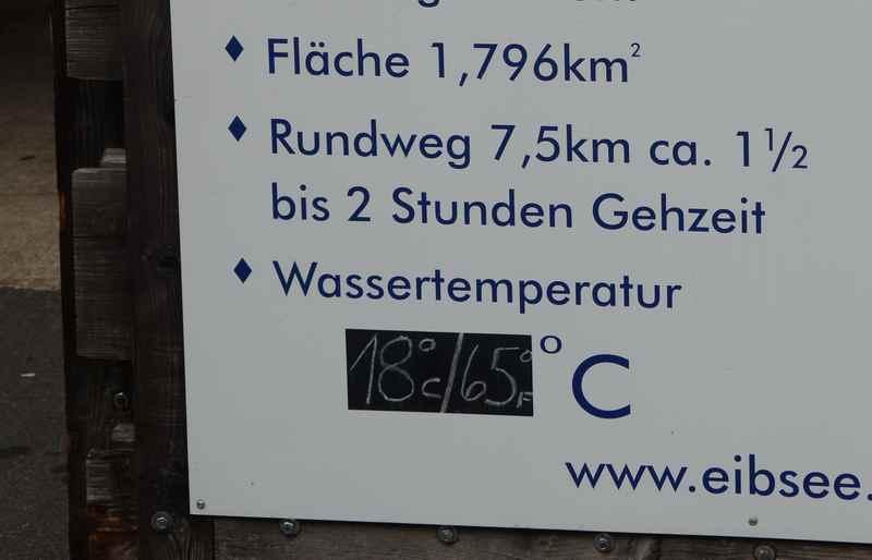 18 Grad beträgt die Wassertemperatur Eibsee im Juli