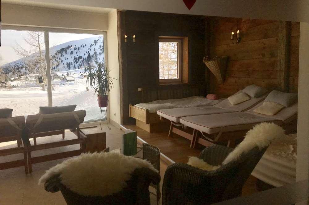 Die Sauna im Heidi Hotel am Falkertsee