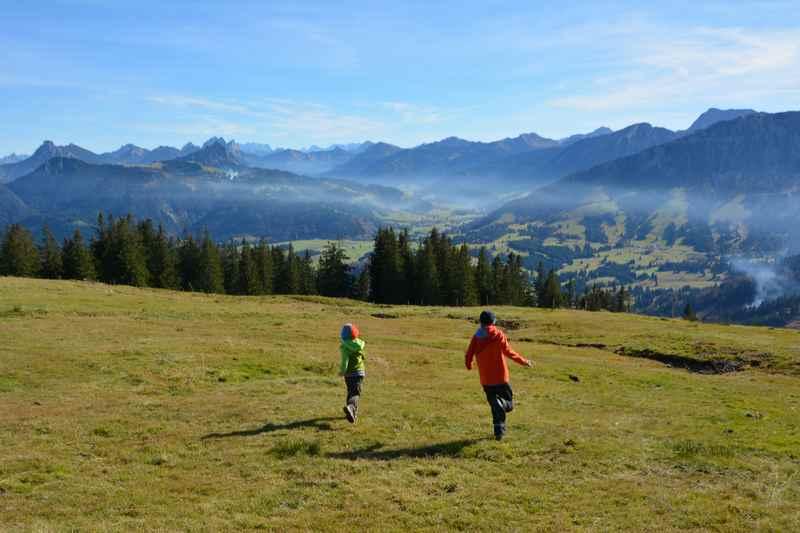 Wandern mit Kindern im Allgäu - hier hat es den Kindern sehr gut gefallen