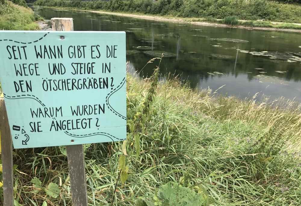 Am Wienerbruck Stausee wandern wir im Naturpark entlang Richtung Ötschergräben
