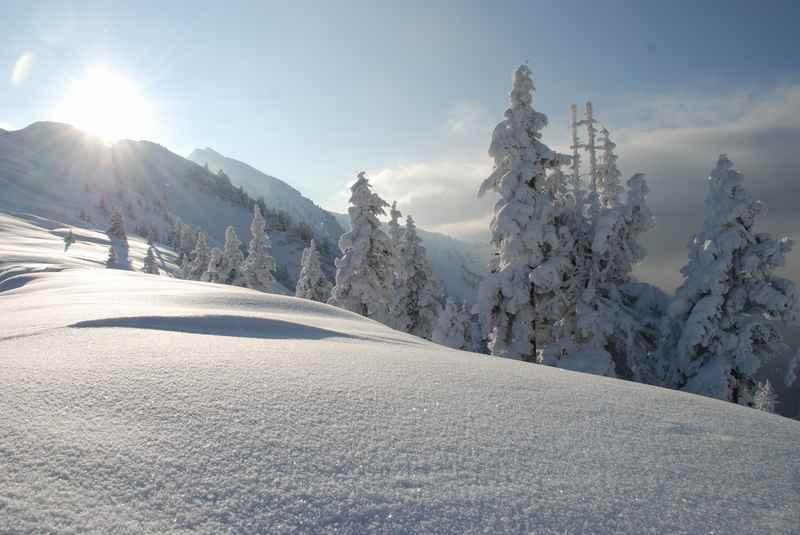 Winterurlaub mit Kleinkind:  Durch den frischen Pulverschnee stapfen und einfach nur geniessen