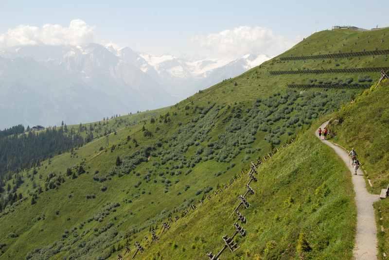Zell am See wandern mit Kindern - zur Bergstation der Schmittenhöhe