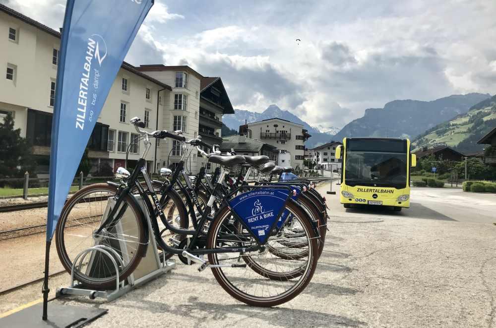 Der Fahrradverleih am Bahnhof in Zell am Ziller - gute Fahrräder unkompliziert ausleihen