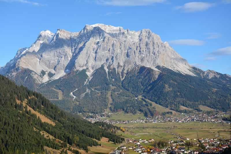 Lermoos mountainbiken mit Kindern an der Zugspitze